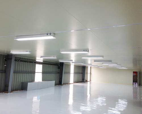 CEILING BY GLASSWOOL SANDWICH PANEL